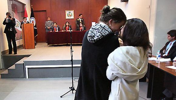 Liliana Castro dejó la sala de audiencias de Lurigancho y se dirigió a su casa. (Luis Gonzáles)