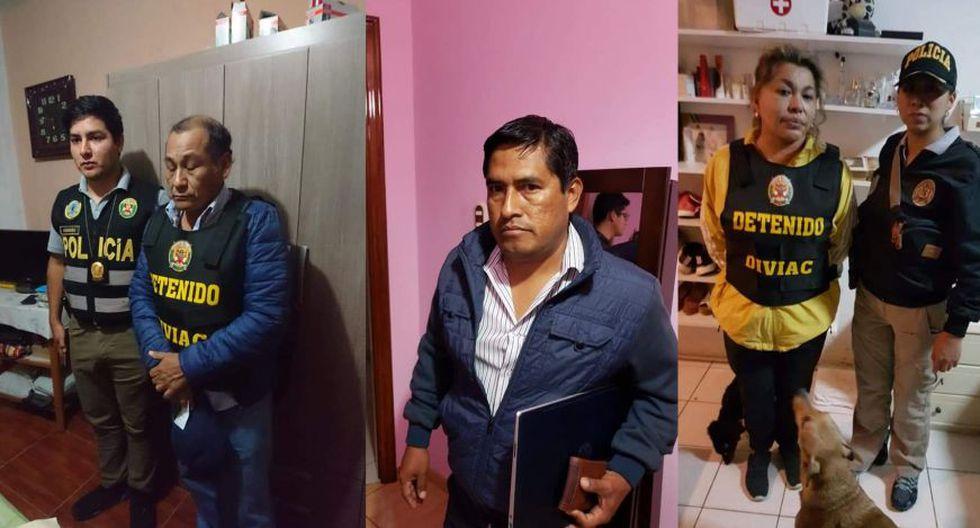 Los capturados por integrar la organización criminal Los Temerarios del Crimen III. (Foto: Fiscalía)