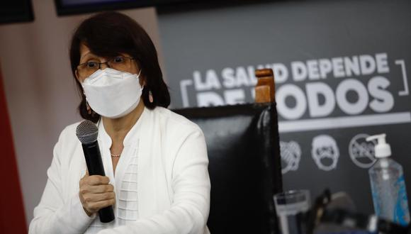 Pilar Mazzetti fue ministra de Salud durante el gobierno de Martín Vizcarra. ( Joel Alonso/GEC)