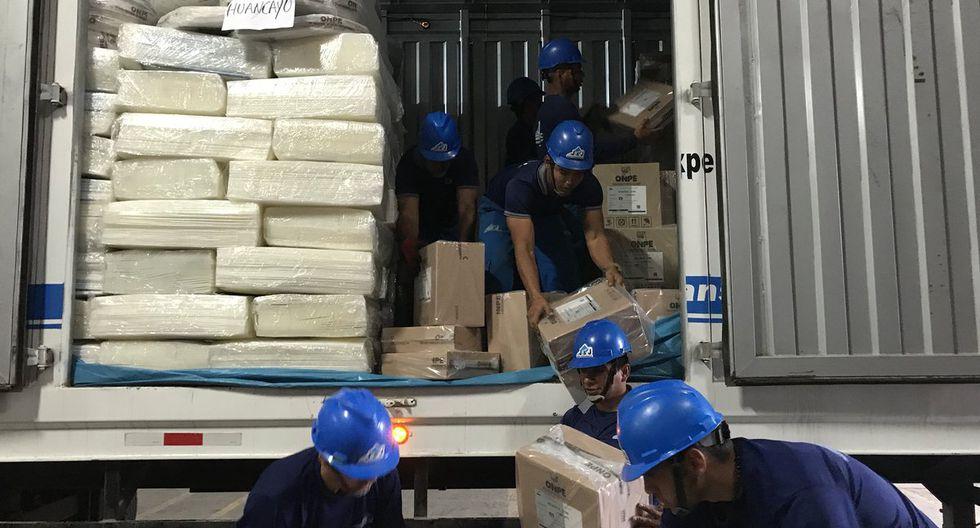 Un total de 900 toneladas de material electoral serán transportadas hasta el 30 de septiembre. (Foto: ONPE)
