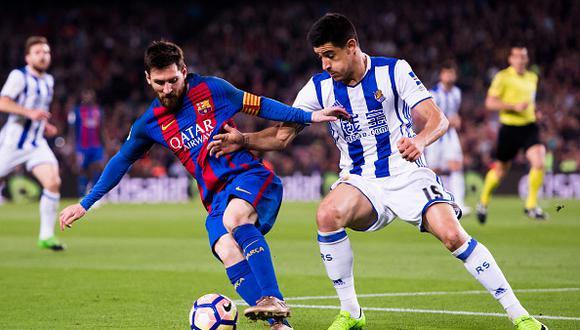 Con 23 unidades, Real Sociedad marcha en la duodécima posición de la tabla liderada por Barcelona a plenitud con 48 puntos, a seis del Atlético, ocho del Valencia y dieciseis del Real Madrid. (GETTY IMAGES)