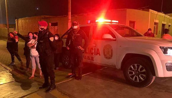 La Libertad:  los vecinos  alertaron a la Policía de la presencia de infractores que ingresaba al recinto edil. (Foto: PNP)