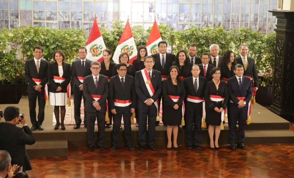Gabinete de transición. (Foto: Alonso Chero - GEC)