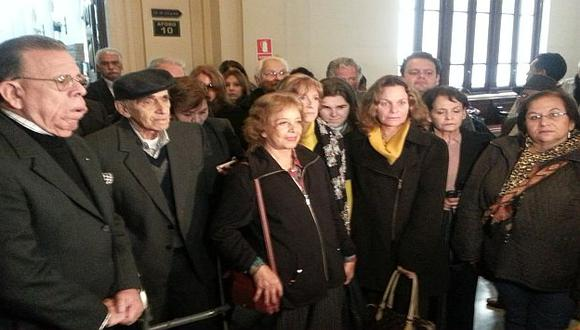 Los deudos estuvieron en la audiencia que se realizó en el Palacio de Justicia. (Ángel Arroyo)