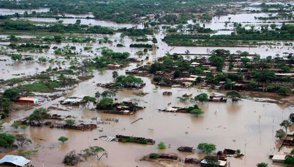 El Niño golpeó una vez más a Piura, en 2017. Esta vista aérea muestra parte de la inundación y los daños. (GEC)