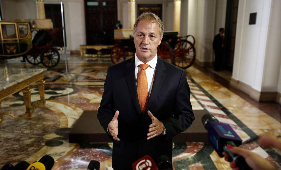 Jorge Muñoz fue recibido esta mañana, por primera vez, por el jefe de Estado en Palacio de Gobierno. (Renzo Salazar/Perú21)