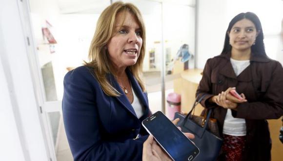Ministra Cayetana Aljovín salió en defensa del ex ministro Martín Vizcarra. (Renzo Salazar)