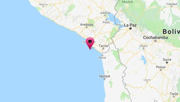 El epicentro del movimiento telúrico fue ubicado a 57 kilómetros al sur de Ilo, en el mar de la capital de Moquegua.