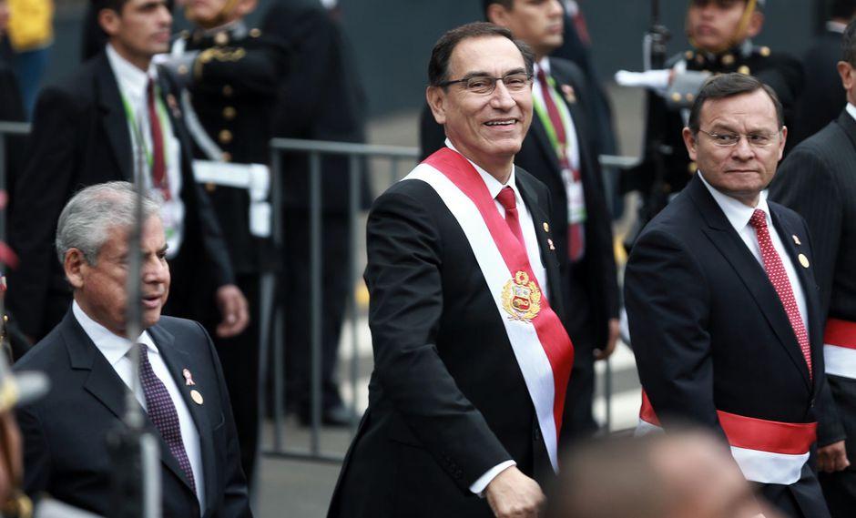 Presidente Martín Vizcarra hizo el anuncio durante mensaje a la Nación. (Foto: Renzo Salazar/Perú21)