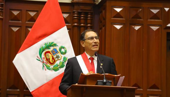 Esta mañana, el presidente Martín Vizcarra, anunció la convocatoria de un referéndum para discutir el retorno a la bicameralidad y la reelección de congresistas. (Foto: Presidencia de la República)