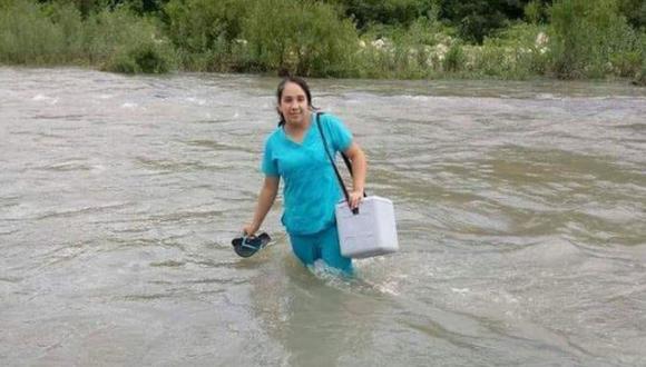 Edid Chumacero, la valiente enfermera que cruzó un río para atender a un bebé. (El Tiempo de Piura)