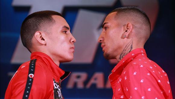 Óscar Valdez y Jason Sánchez pelean por título peso pluma OMB desde Reno, Nevada. (Foto: AFP)