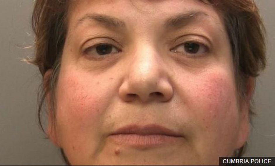Zhoila Alemi, la falsa psiquiatra del Reino Unido. (Cumbria Police)