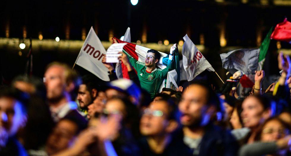 Así celebraron la victoria de Andrés Manuel López Obrador. (AFP)