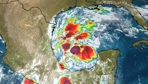 Se forma la tormenta tropical Nicholas en el Golfo de México y amenaza a Texas y Louisiana. (@weatherchannel, Twitter).