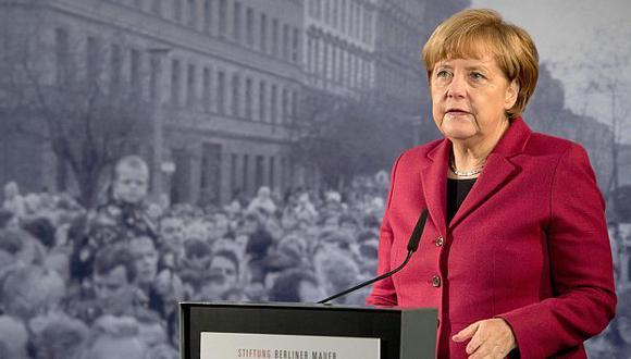 Angela Merkel recordó que la caída del muro de Berlín significó el fin de la Guerra Fría. (EFE)