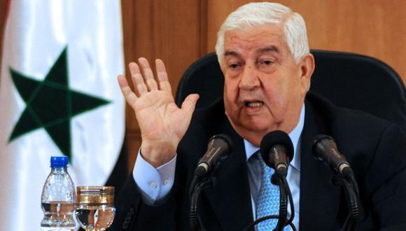 El canciller Walid al Moallem en declaraciones desde Damasco. (AFP)