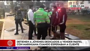 Policía interviene a jóvenes por comercializar postres hechos con marihuana