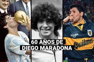 Diego Maradona cumple 60 años: La leyenda del fútbol que gambetea a la vida