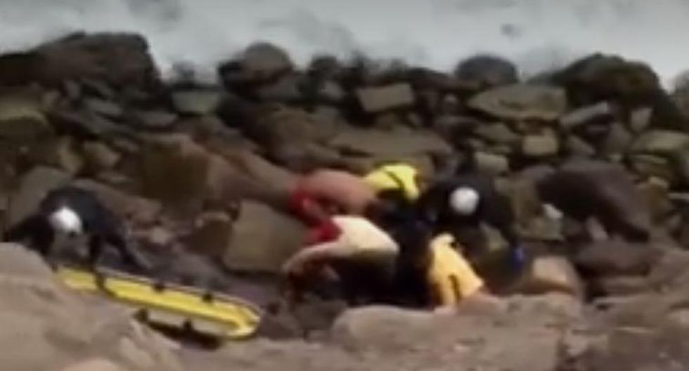 Encuentran cadáver en Costa Verde (Foto: Captura América Noticias)