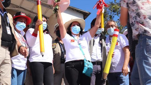 Boluarte hizo cierre de campaña en Abancay. (Perú Libre)