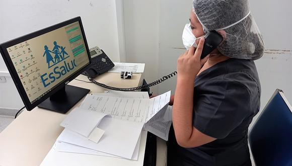 Moquegua: Las teleconsultas serán reforzadas de manera virtual y que son una gran alternativa para que la población asegurada reciba atención médica desde su casa. (Foto: EsSalud)