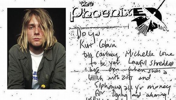 Kurt Cobain: Aparece nota en la que ataca a Courtney Love. (CBS/EFE)