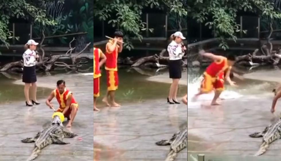 Los cuidadores de un zoológico en China fueron captando en un video de Facebook protagonizando un divertido viral. En redes sociales este clip ha generado divertidos comentarios y millones de vistas. (Foto: Captura)