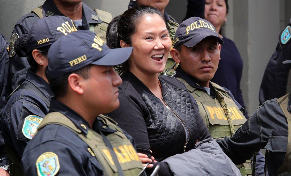 """""""Tengo las ganas y la fortaleza para resistir hasta que la justicia se restablezca"""", dijo Keiko Fujimori. (Foto: GEC)"""