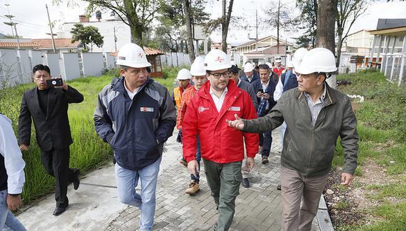 El ministroEdgar Vásquez anunció que su sector viene trabajando en una serie de acciones que permitirán diversificar la oferta turística de Cajamarca. (Foto: Mincetur)