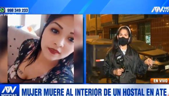 Carmen Pachas Pujay murió tras presentar un sangrado cuando se encontraba en un hostal de Ate. (ATV)