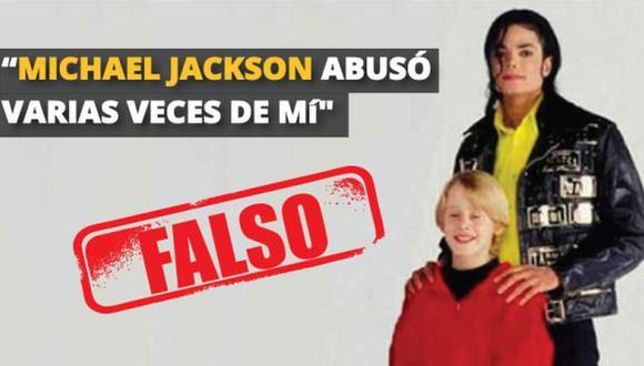 Macaulay Culkin no confesó haber sido violado por Michael Jackson. (Composición)