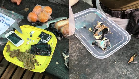 Trujillo: Familiares de internos camuflan Celular y presunta droga en tápers de comida | Foto: INPE