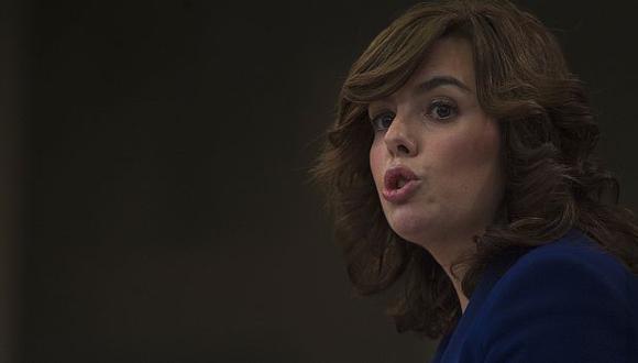 Soraya Sáenz de Santamaría, ministra portavoz del gobierno español. (Reuters)