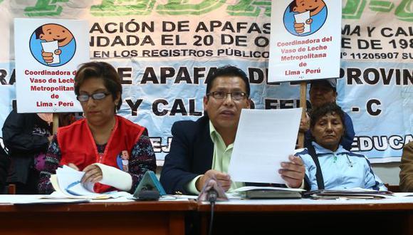 PROTESTA. Dirigentes presentaron resultados de inspección. (Rafael Cornejo)