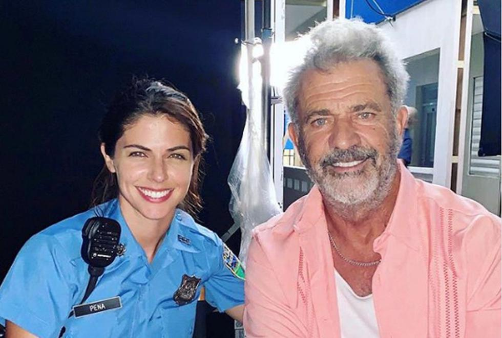 "Stephanie Cayo y Mel Gibson comparten roles en ""Force of Nature"". (Foto: Instagram)"