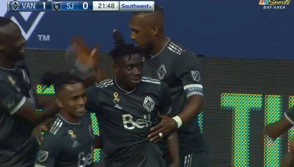 Yordy Reyna y su importante labor para que Whitecaps rompa el cero ante San José Earthquakes por la MLS. (Foto: captura)