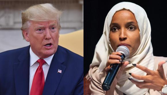 "Donald Trump acusó a Ilhan Omar de ""grosera"" y de ""odiar"" a Estados Unidos. (Foto: AFP)"