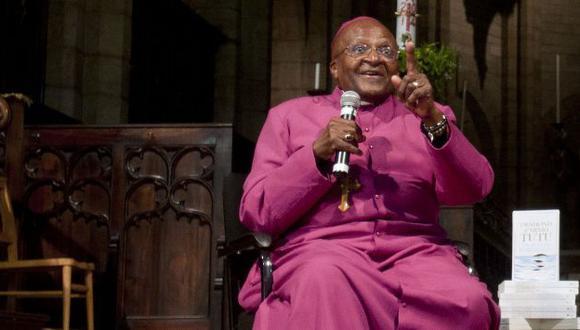 Desmond Tutu será atendido por cáncer de próstata. (AFP)