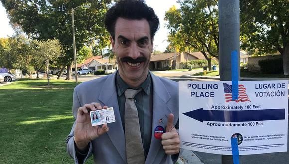Así fue el regreso del polémico 'Borat' a las pantallas de Estados Unidos. (Foto: @sachabaroncohen)