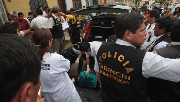 REVELADOR. Sangre encontrada demostraría que víctima no murió de manera instantánea. (Martín Pauca)