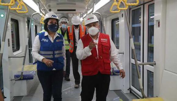 Ministro González inspeccionó la estación Hermilio Valdizán de la Línea 2 del Metro de Lima y Callao