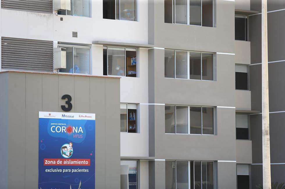 Las torres 3 y 4 albergan casos leves de coronavirus. (Foto: Fernando Sangama/GEC)