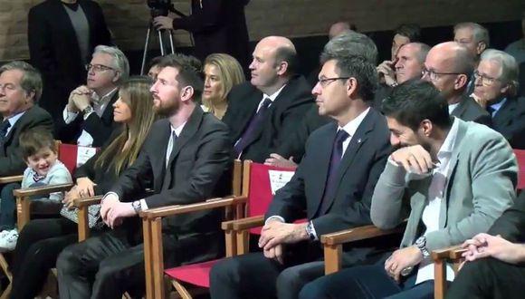 Suárez demostró una vez más su cercanía con la familia Messi-Roccuzzo.