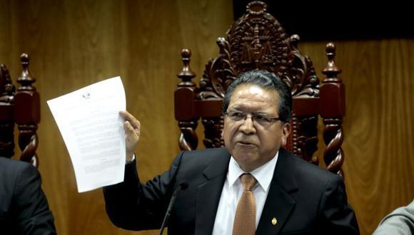 El ex fiscal de la Nación Pablo Sánchez estará a cargo de la pesquisa a Hinostroza. (Perú21)