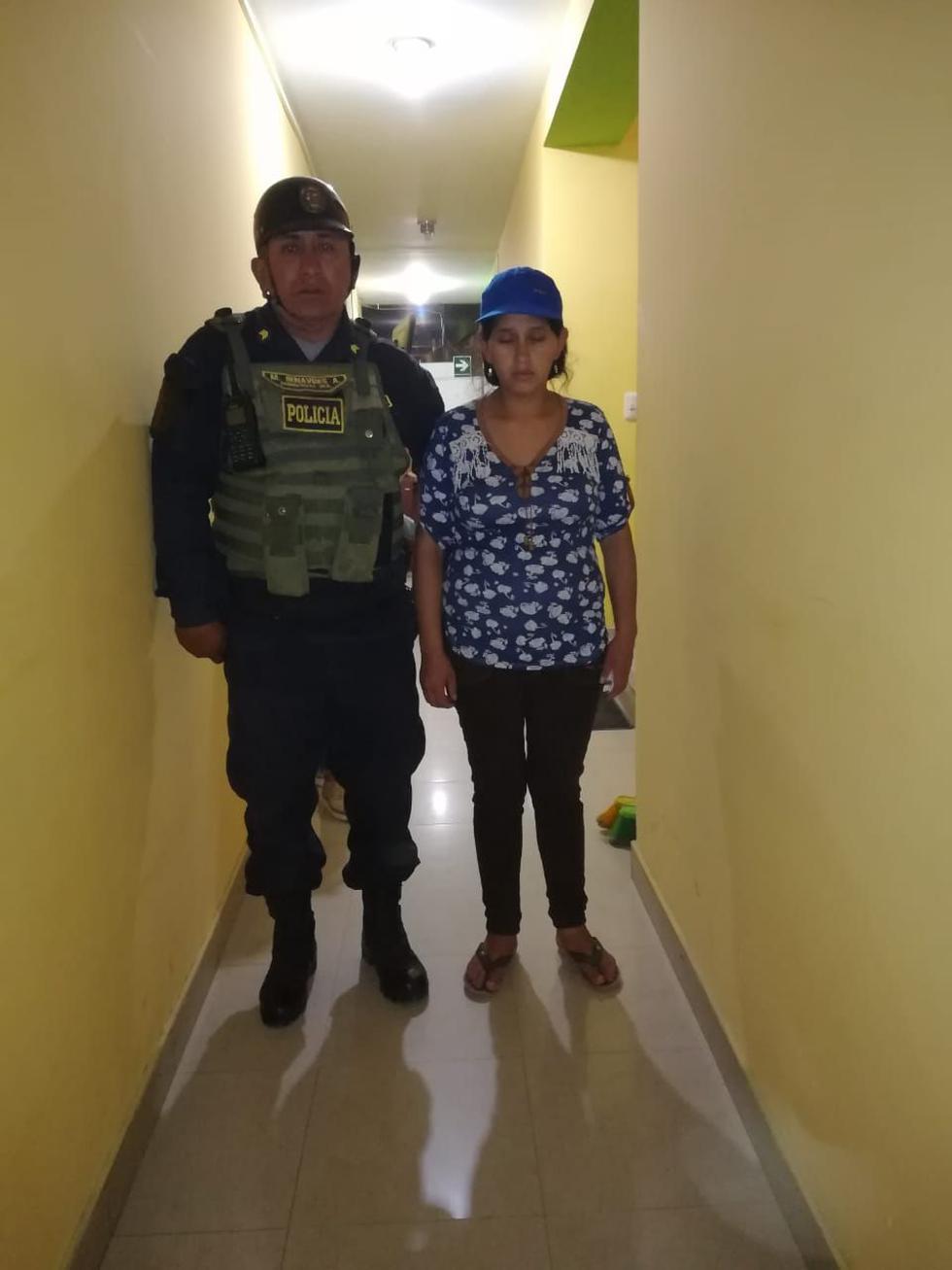 Marleny Guerrero Quinde fue detenida por la Policía.