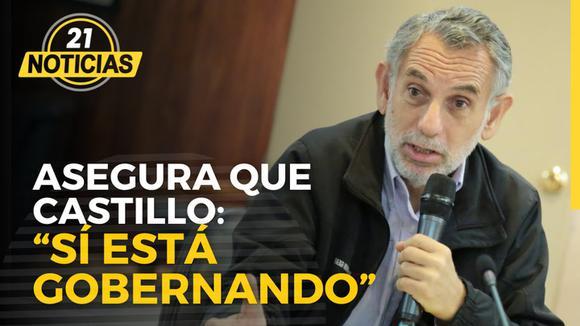 """Pedro Francke :""""sí está gobernando"""" tras pregunta de periodista."""