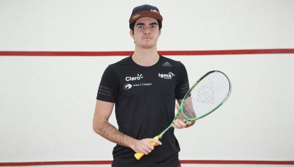 Diego Elías: El campeón de squash continúa buscando rivales. (Renzo Salazar)