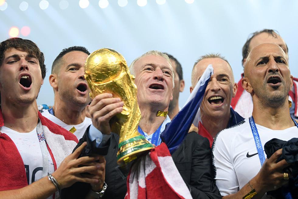 Bajo la dirección de Deschamps, Francia venció 4-2 a Croacia y conquistó la Copa del Mundo desarrollada en Rusia. (GETTY)