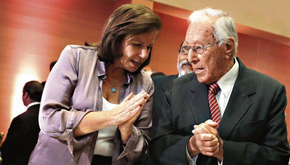 La posta. Bedoya delegó el liderazgo en Lourdes Flores para mantener a flote el partido. (GEC)